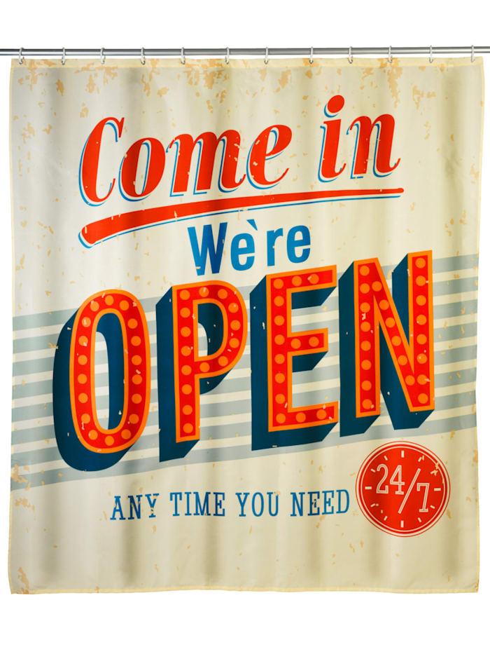 Wenko Anti-Schimmel Duschvorhang Vintage Open, Textil (Polyester), 180 x 200 cm, waschbar, Mehrfarbig