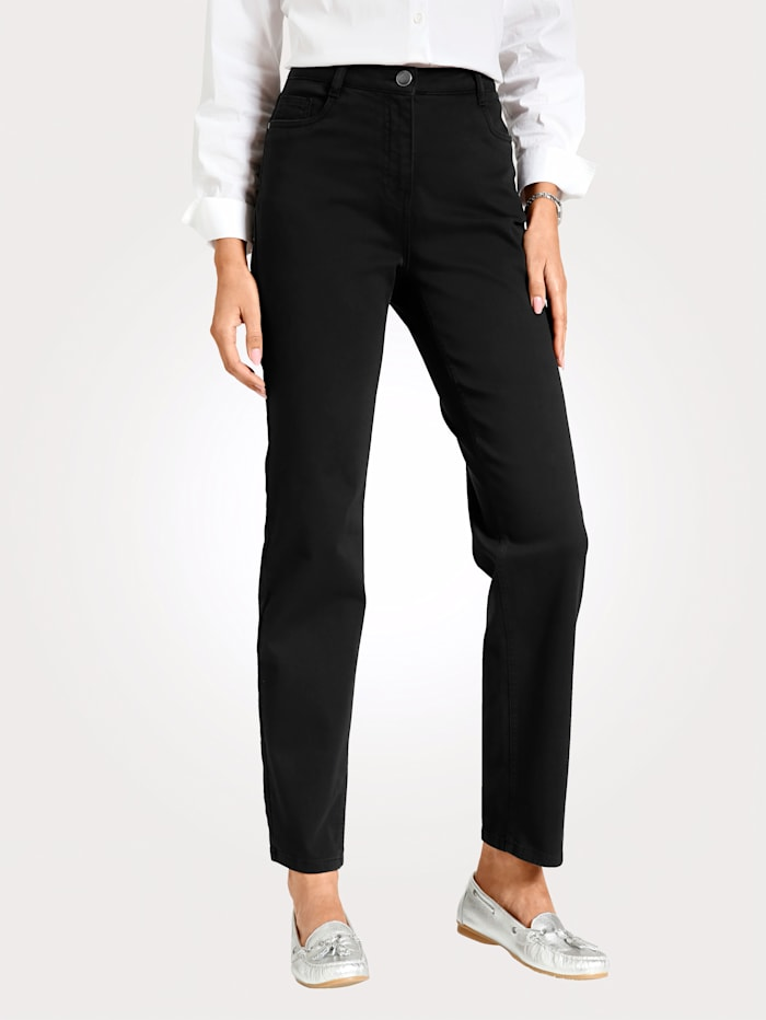 MONA Trousers with a partially elasticated waist from size 18, Black
