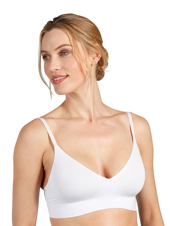 sloggi Bralette mit integrierter Verstärkung im Brustbereich, Weiß