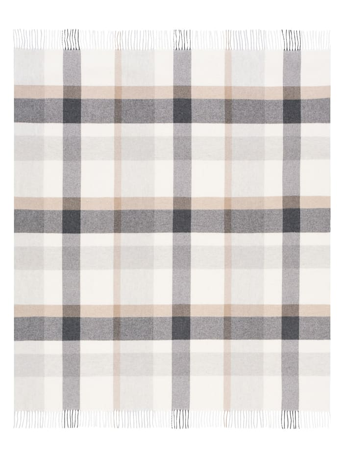 biederlack Plaid 'Check Wool', Grau
