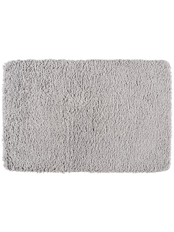 Wenko Badteppich Belize Light Grey, 60 x 90 cm, Mikrofaser, Polyester/Mikrofaser: Grau - Hellgrau