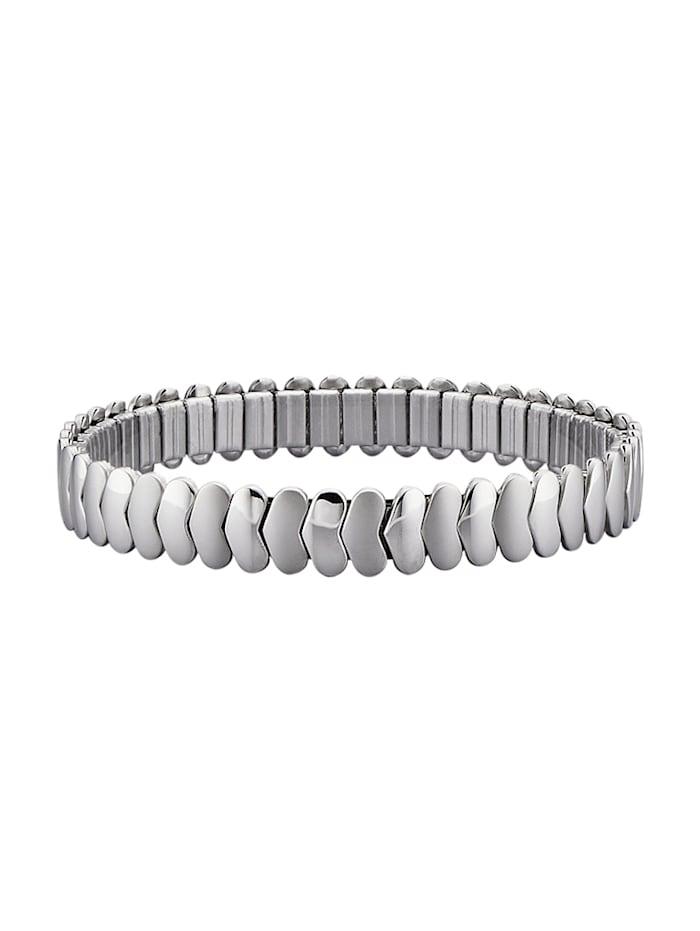 Magnetic Balance Bracelet cœurs en acier inoxydable, Coloris argent
