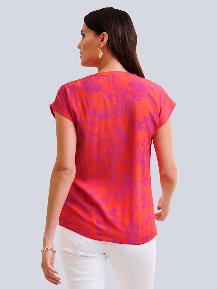 Blusenshirt im floralen Print allover
