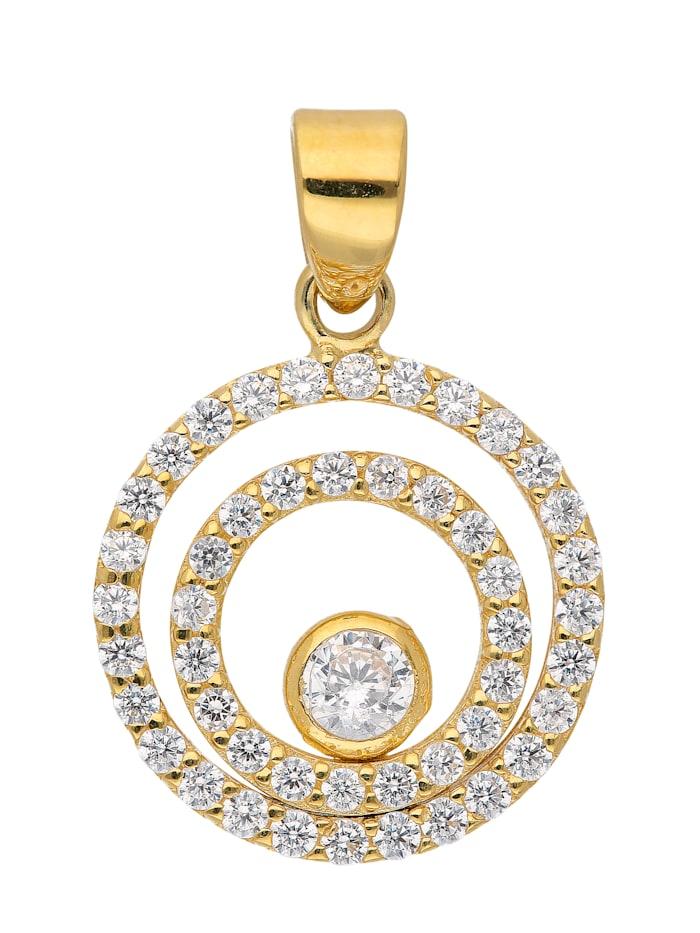 1001 Diamonds 1001 Diamonds Damen Goldschmuck 333 Gold Anhänger mit Zirkonia, gold