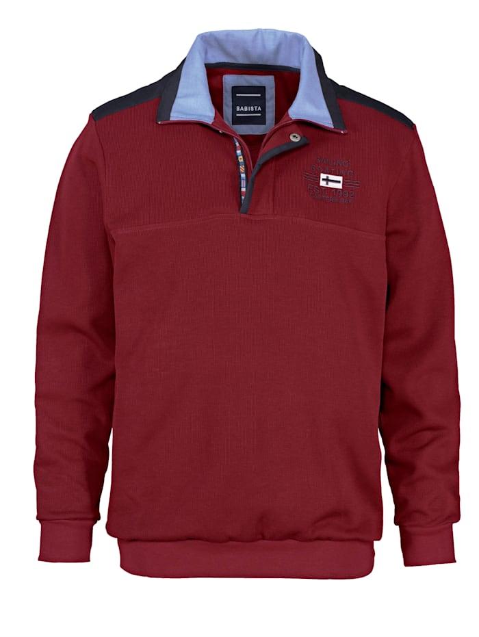 BABISTA Sweatshirt mit aufwändigem Kragen, Rot