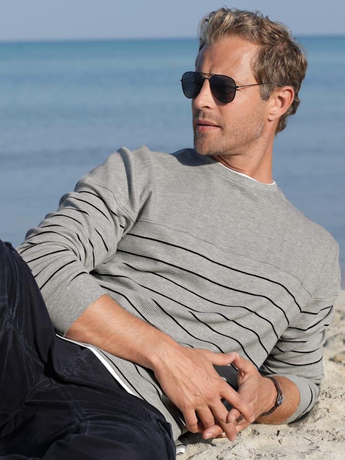 BABISTA Sweatshirt in feiner Rippenstruktur, Grau