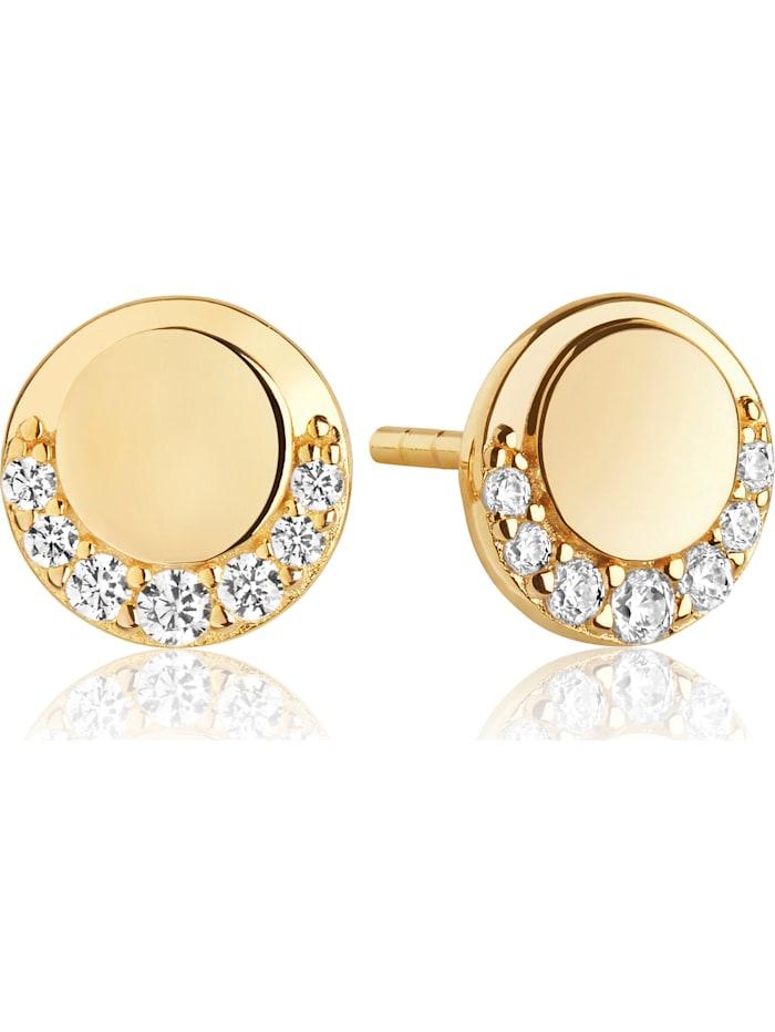 Sif Jakobs Sif Jakobs Jewellery Damen-Ohrstecker 925er Silber Zirkonia, gold