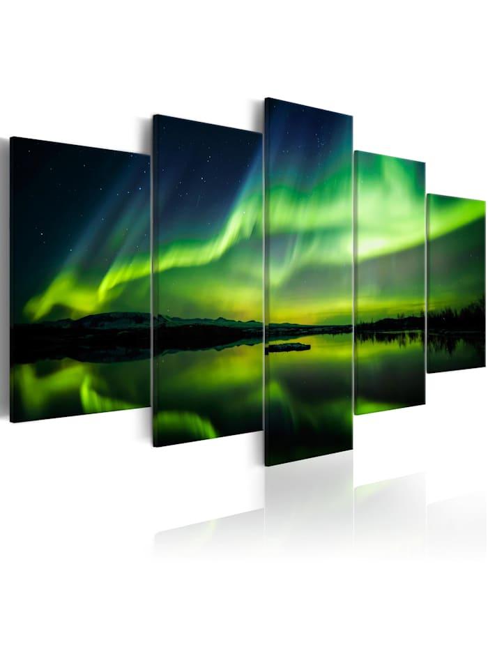 artgeist Wandbild Beautiful Glow II, Schwarz,Blau,Grün