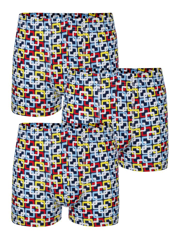 G Gregory Pantys im 3er-Pack, Marineblau/Rot/Gelb