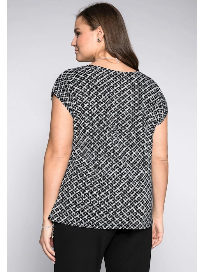 Shirt mit grafischem Alloverdruck