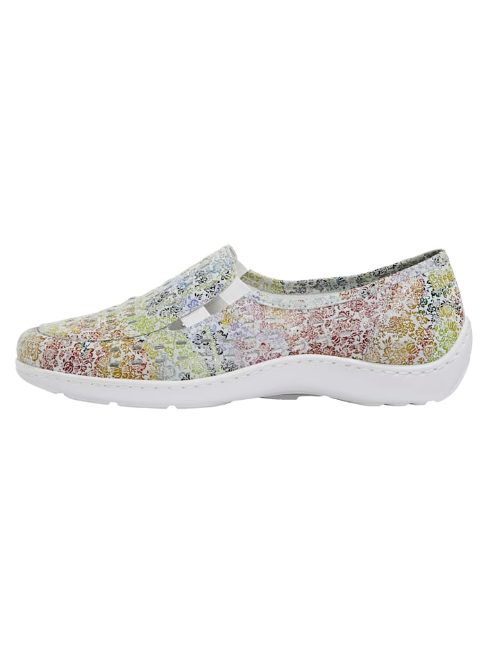 Slip-on shoes with cutout detailing
