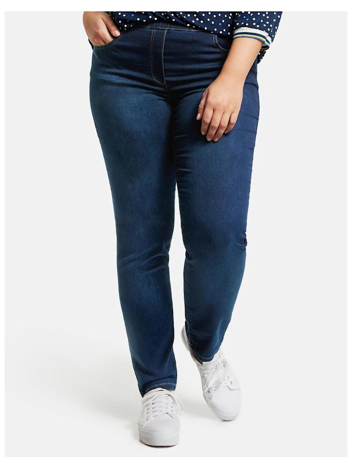 Samoon Jeggings Stretch-Jeans Lucy, Light Blue Denim