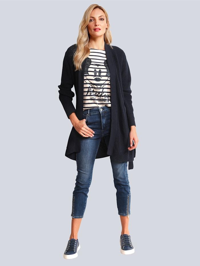 Rosner Jeans mit Zipper am Saum, Blau