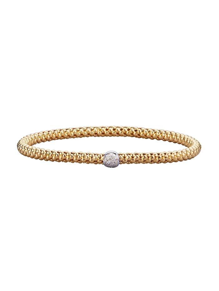 Diemer Diamant Armband mit Brillanten mti Brillanten, Gelbgoldfarben