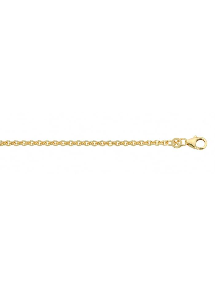 1001 Diamonds Damen Silberschmuck 925 Silber Anker Halskette Ø 1,6 mm, vergoldet
