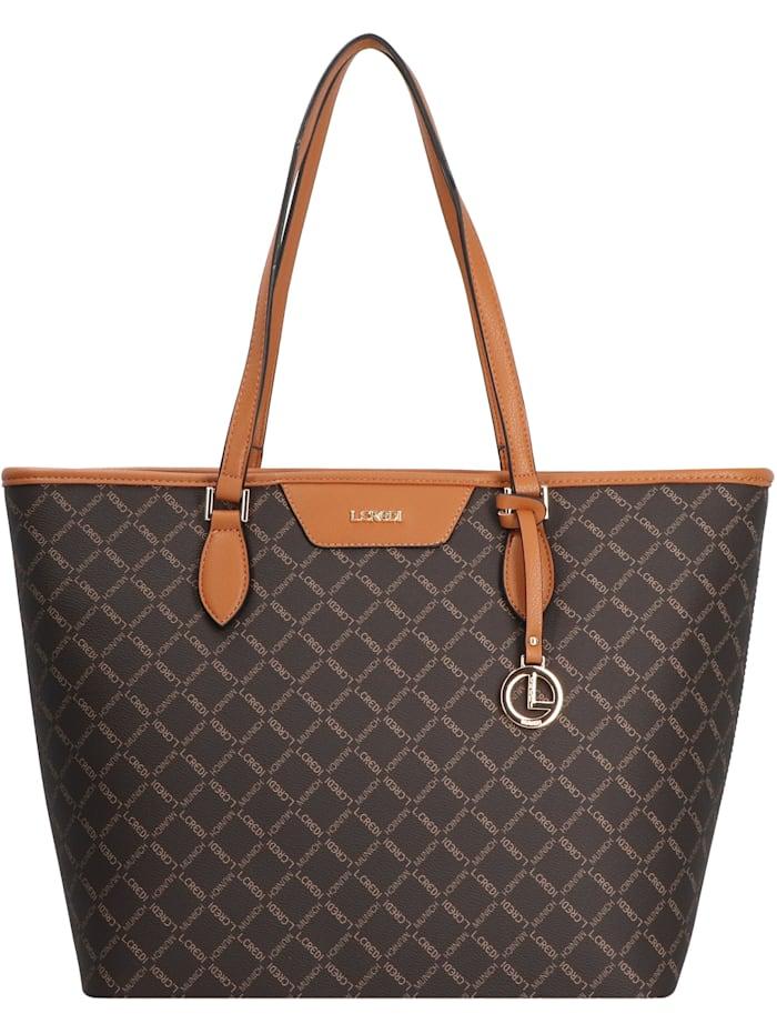 L.Credi Filiberta Shopper Tasche 32 cm, braun