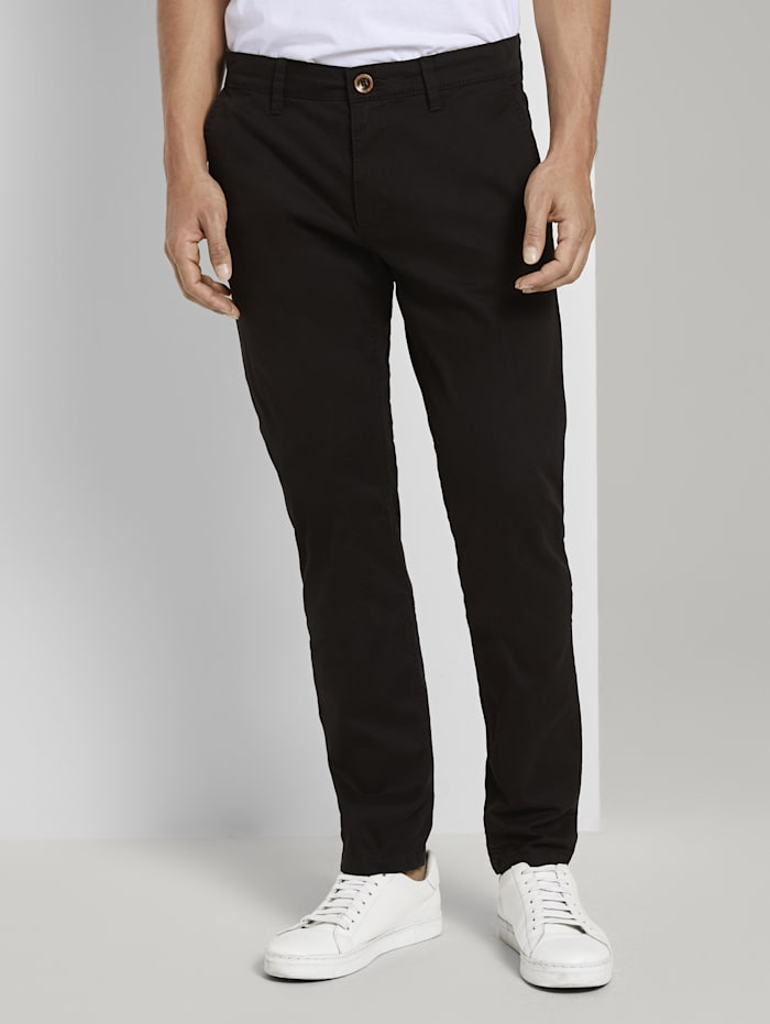 Tom Tailor Travis Slim Chino Hose im Washed-Look, Black