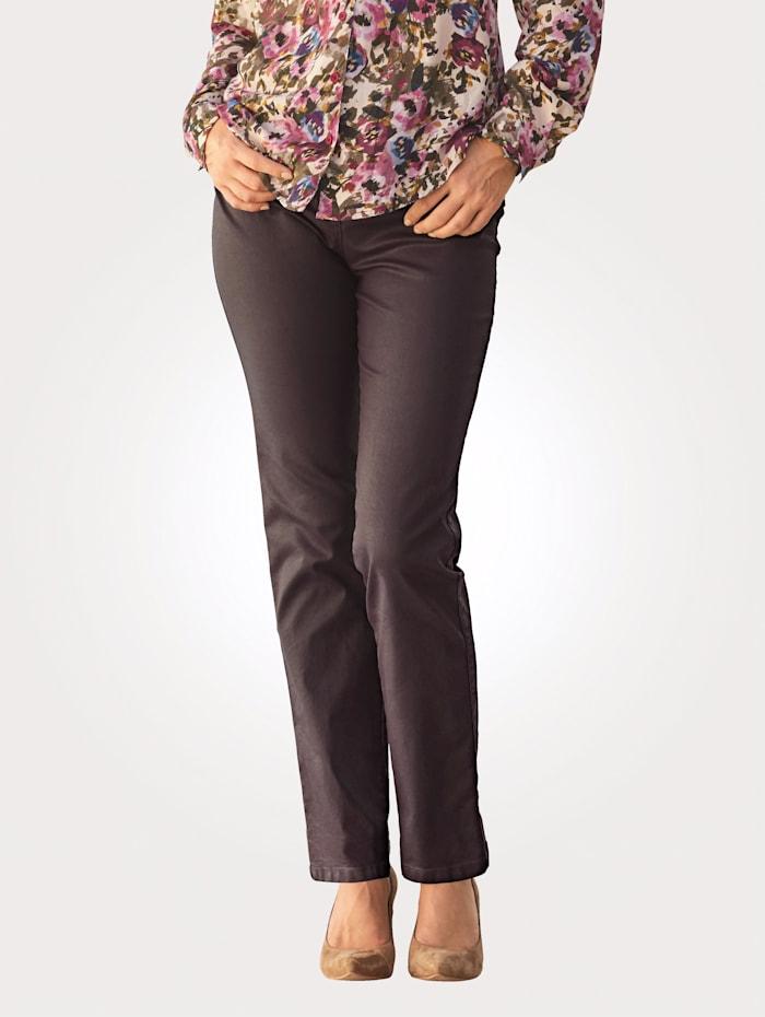 Toni Pantalon 5 poches en cuir synthétique, Baies