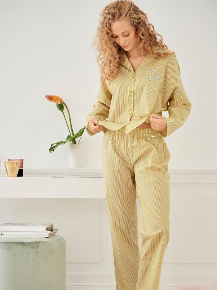 Pyjamahose mit Rüschen