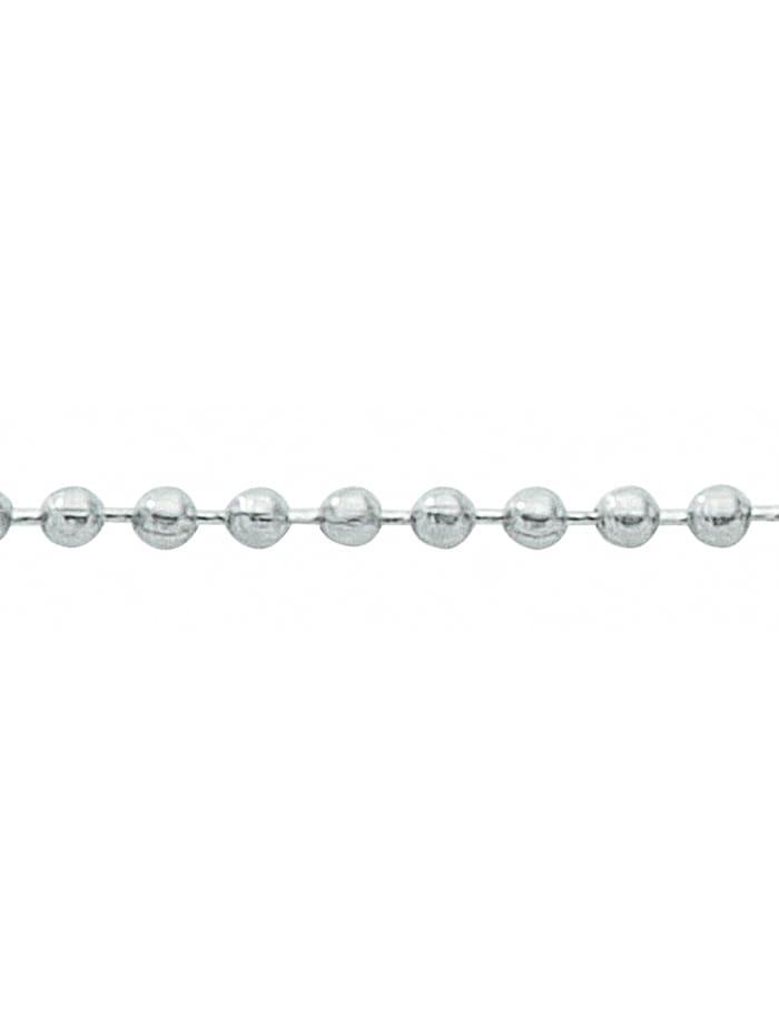 1001 Diamonds Damen Edelstahlschmuck Edelstahl Kugel Halskette Ø 3 mm, silber