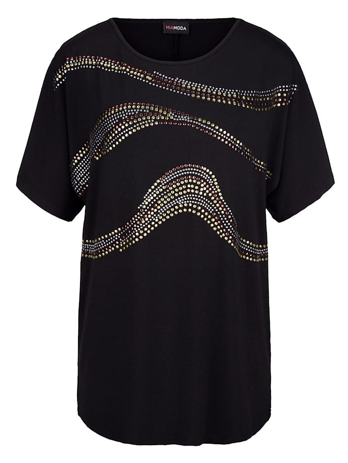 Shirt mit dekorativen Metallplättchen
