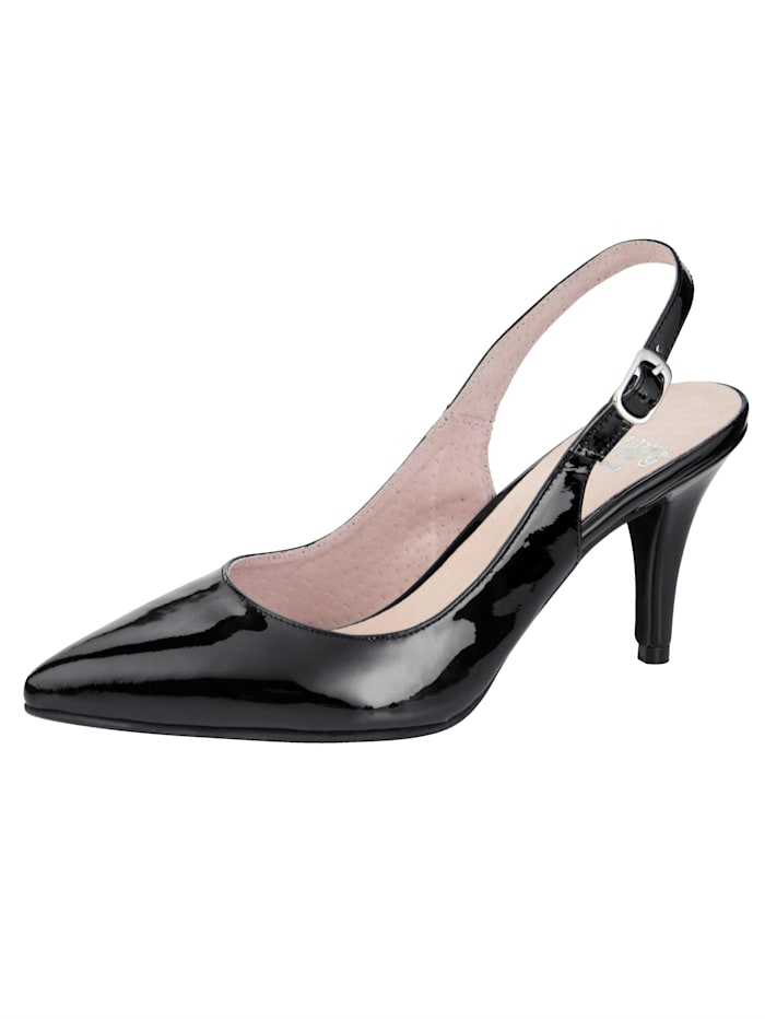 Slingback Shoes Premium-quality patent-leather