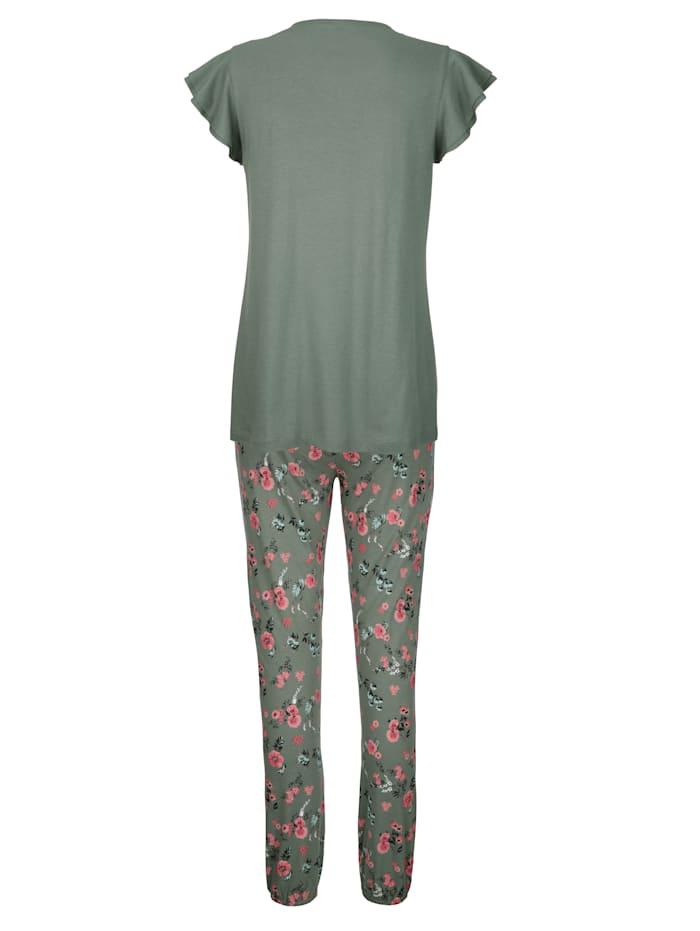 Pyjama met romantische vlindermouwtjes