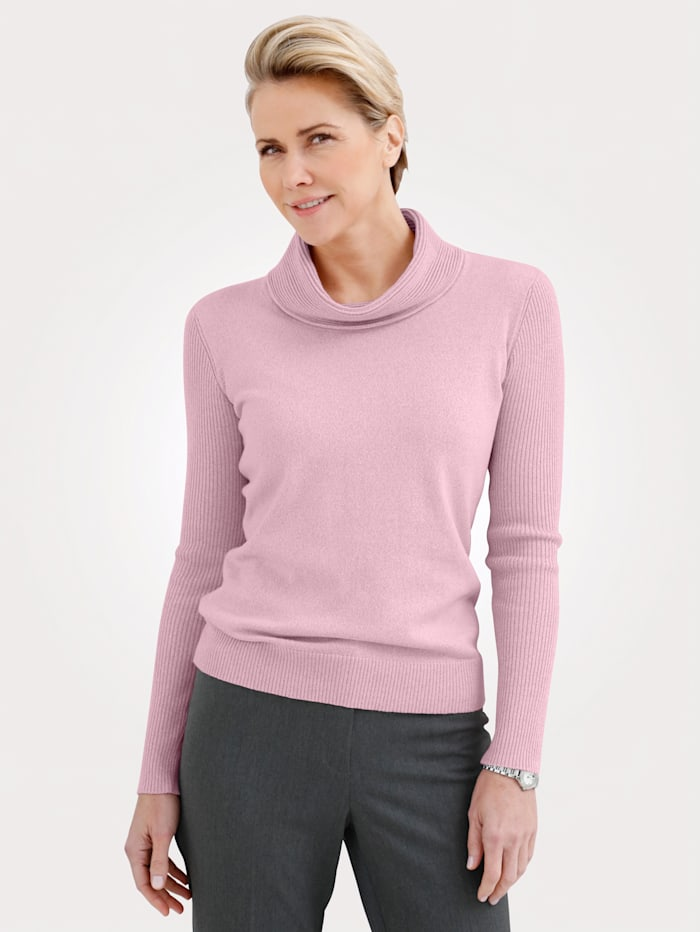 MONA Pull-over en pur coton, Rose
