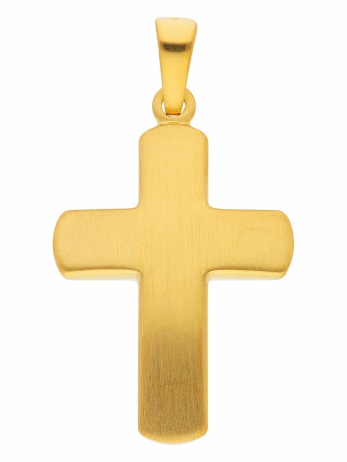 1001 Diamonds 1001 Diamonds Damen & Herren Silberschmuck 925 Silber Kreuz Anhänger, vergoldet