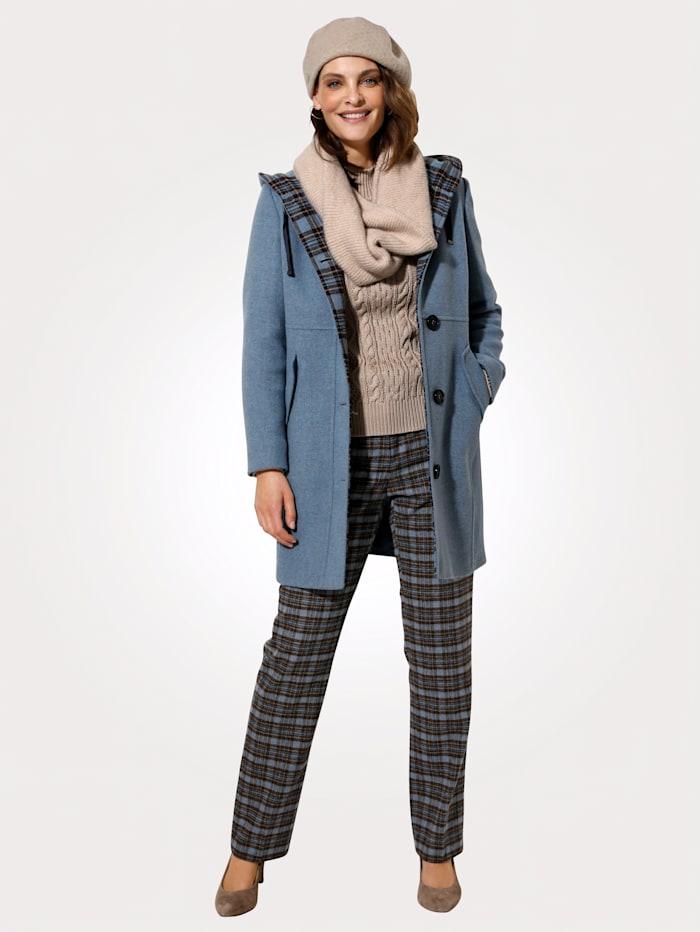 MONA Veste en laine foulée, Bleu ciel