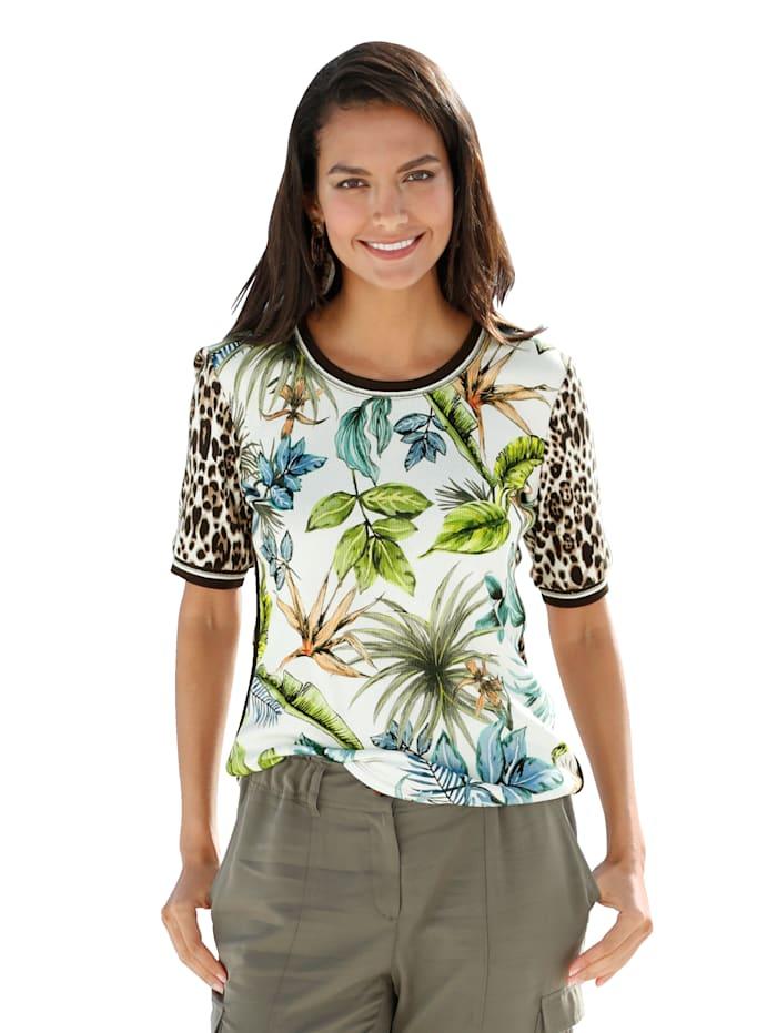 Betty Barclay Shirt mit Animal- und Floraldruck, Multicolor