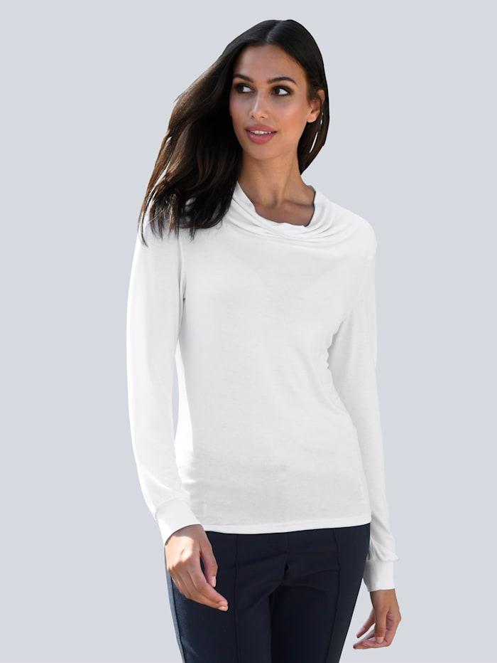 Alba Moda Shirt van zacht materiaal, Offwhite