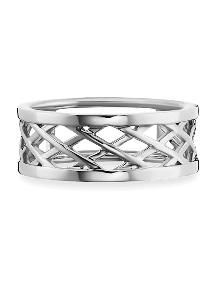 CAI Ring 925/- Sterling Silber rhodiniert 925/- Sterling Silber, weiß