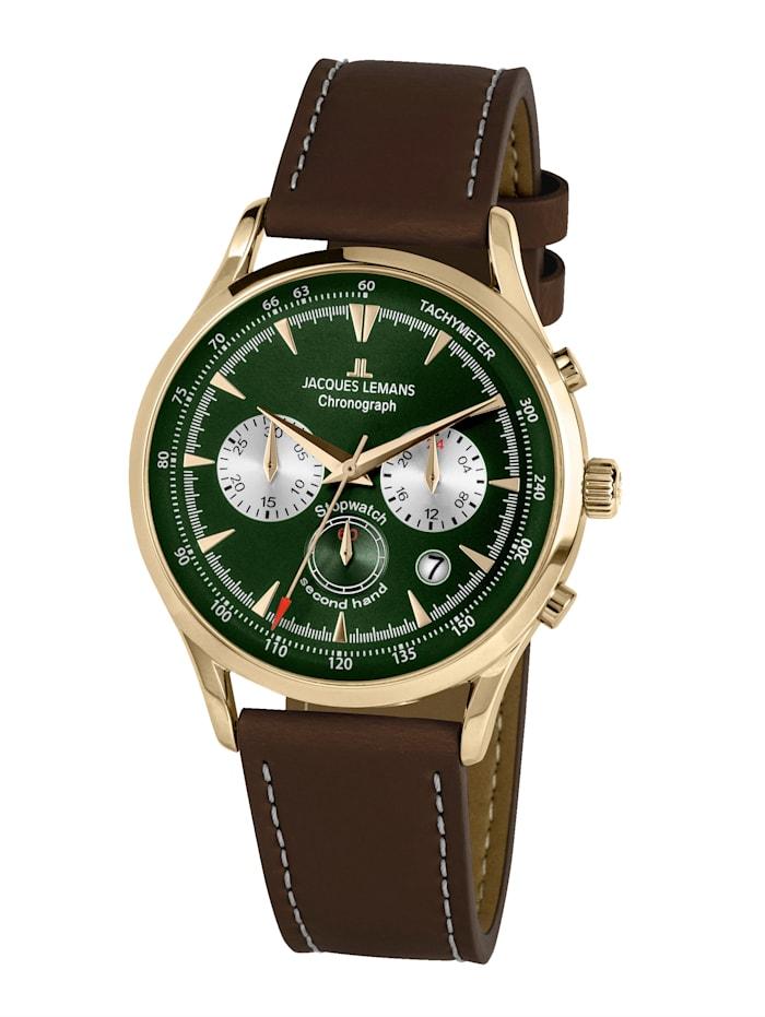 Jacques Lemans Herren-Uhr Chronograph Serie: Retro Classic, Kollektion: Retro Classic: 1- 2068L, Dunkelbraun
