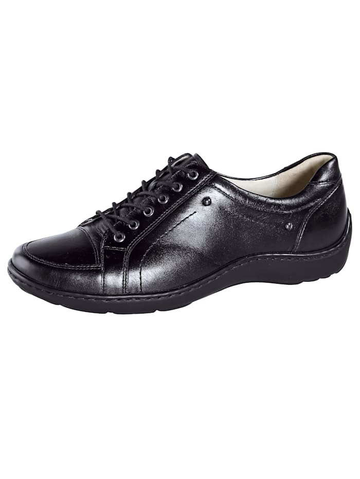 Waldläufer Lace-up shoes, Black