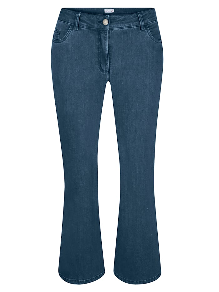 Angel of Style Jeans in Bootcut-Form, Blue bleached