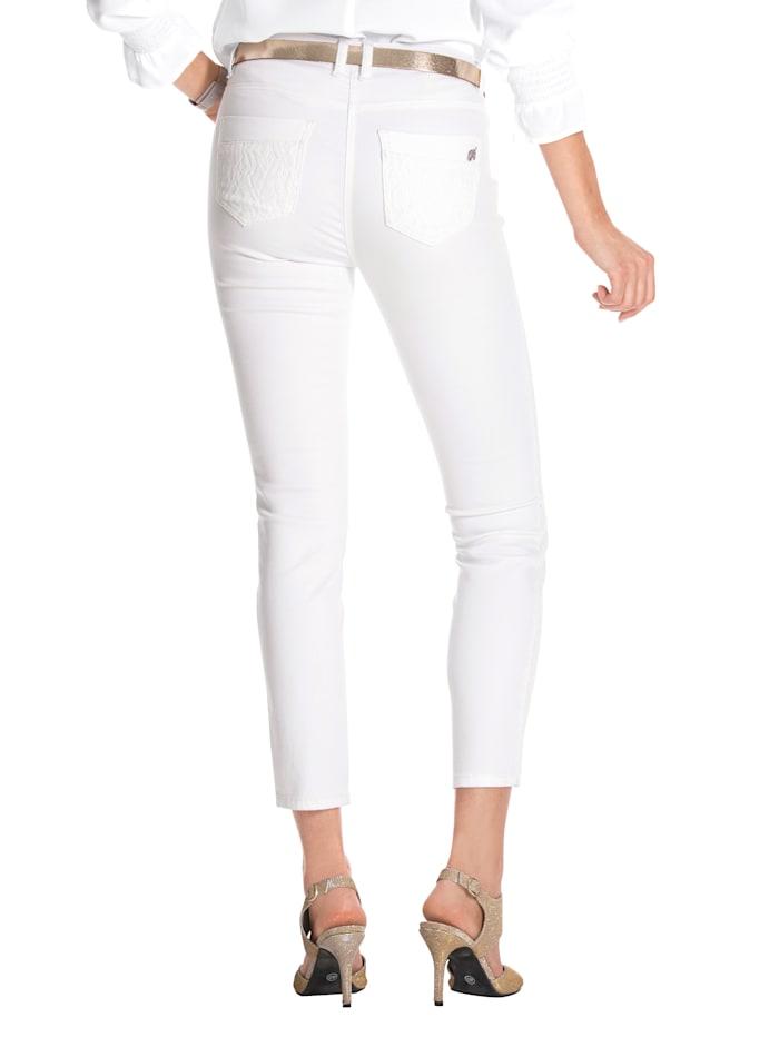 Jeans met beleg van kant