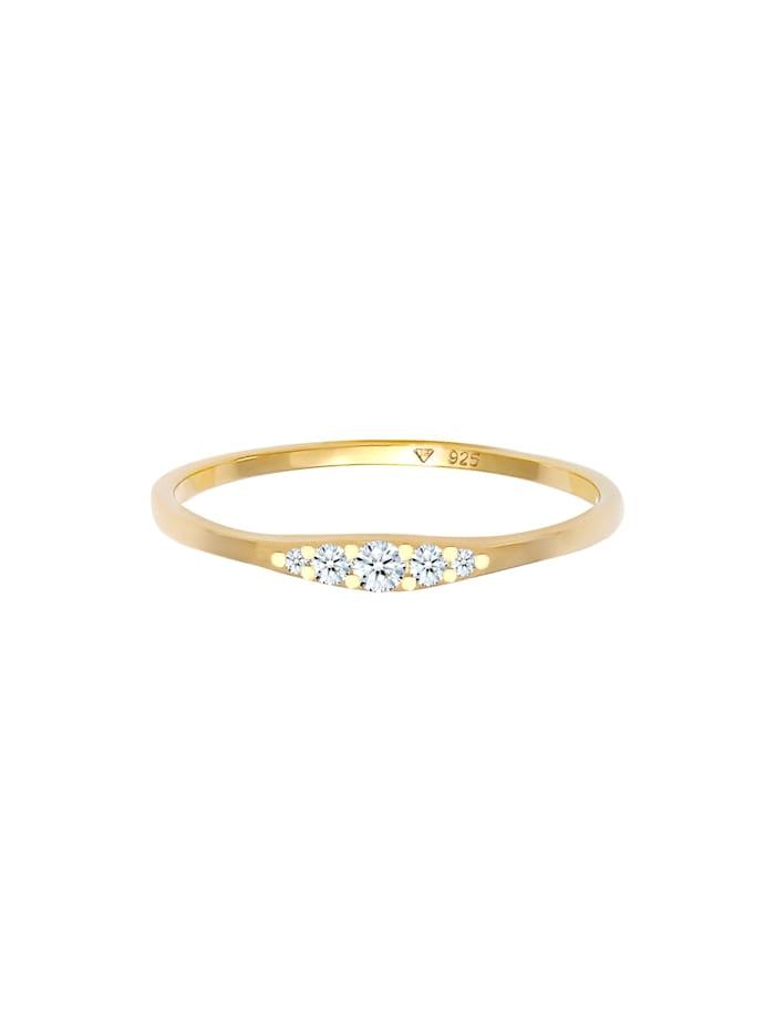 Ring Verlobungsring Diamant (0.07 Ct) Bridal 925 Silber