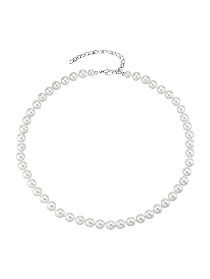 KLiNGEL Halskette aus Glasperlen, Weiß