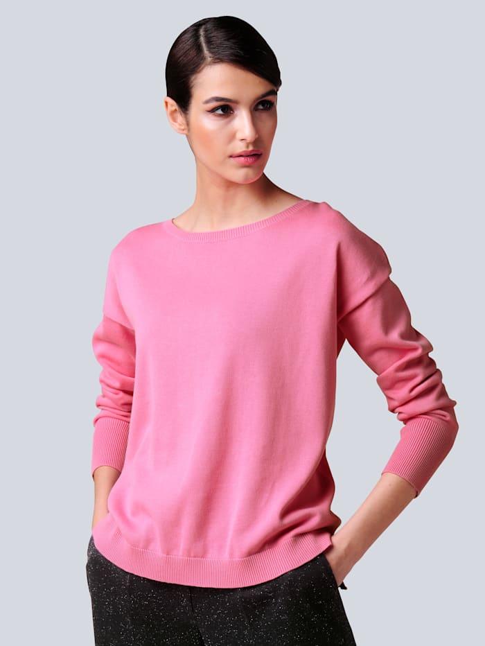 Alba Moda Pullover aus reiner Baumwollqualität, Pink