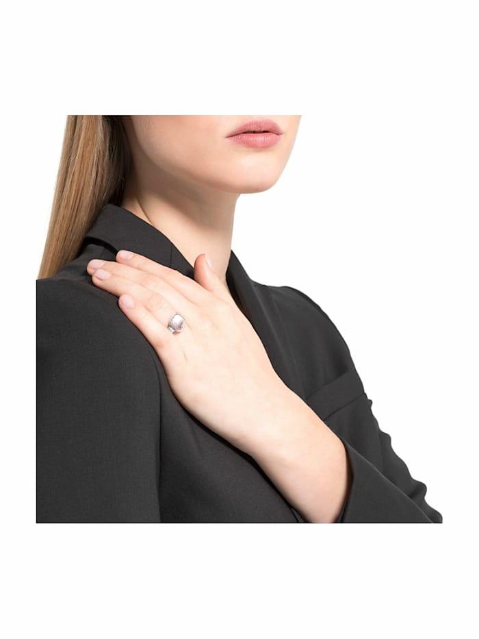 Ring für Damen, Sterling Silber 925, Rosenquarz