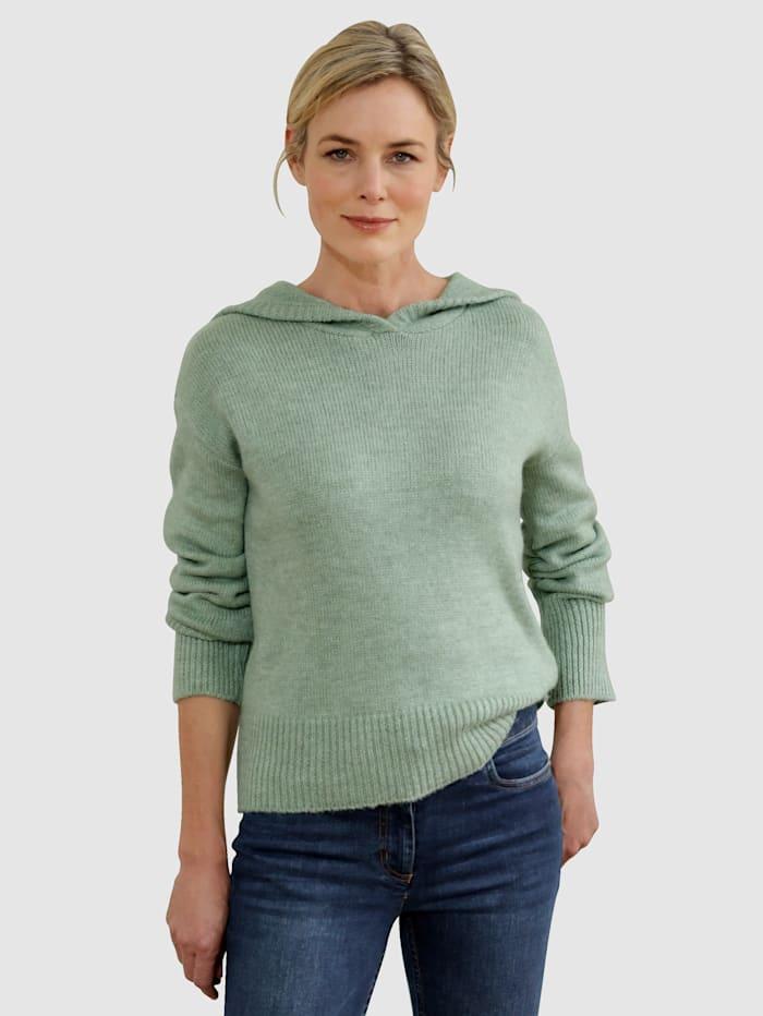 Dress In Pullover mit Kapuze, Salbeigrün