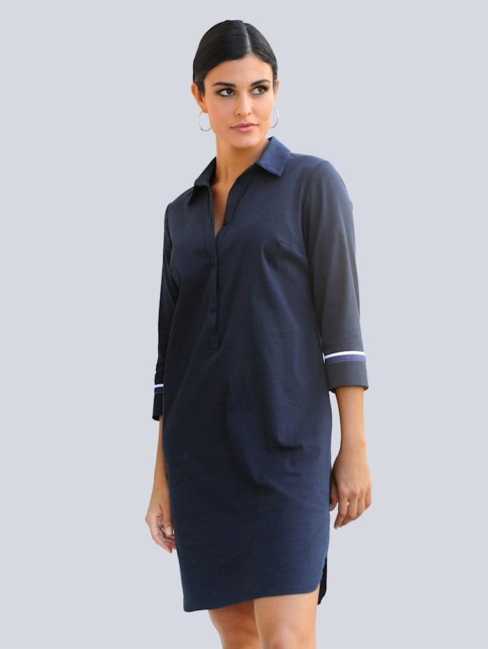 Alba Moda Kleid in aktueller Hemdblusenform, Marineblau