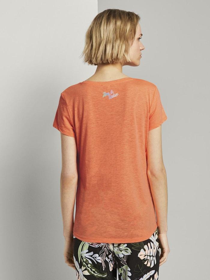 T-Shirt mit platziertem Print