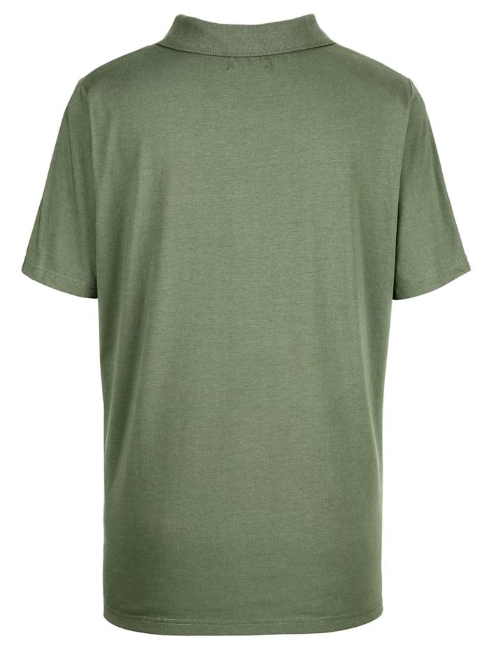 Polo tričko so štrasovými kamienkami na gombíkovej lége