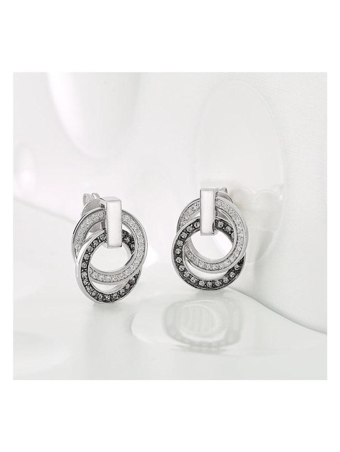 JETTE Silver Damen-Ohrstecker 925er Silber 54 Zirkonia