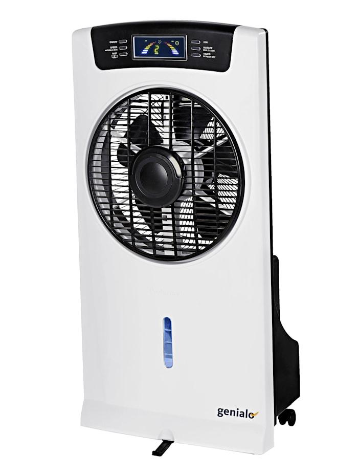 Ventilator-luchtverfrisser 4-in-1, wit/zwart