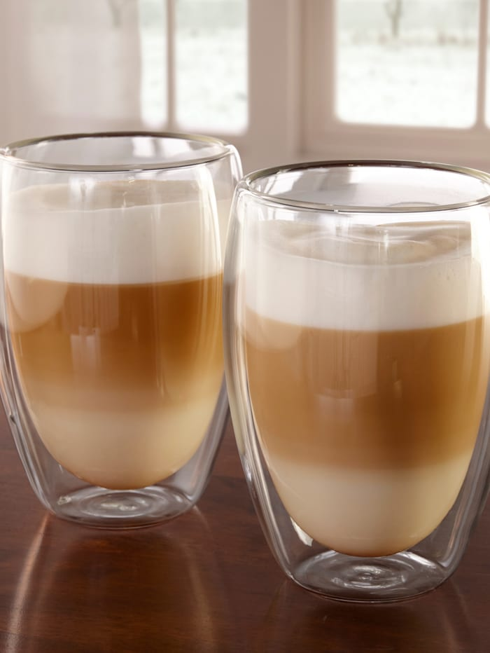 Latte macchiato-glas, 2 st.