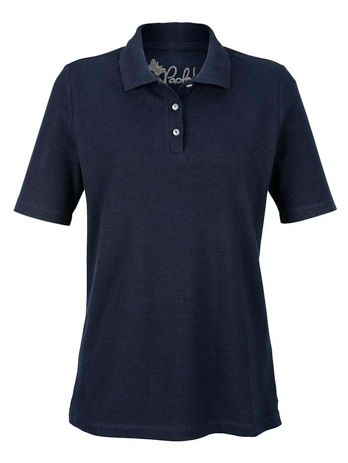 Dress In Poloshirt in Piquee-Qualität, Marineblau