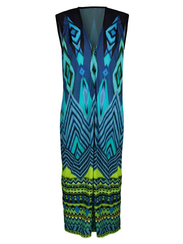 Sunflair Robe de plage longue, Bleu/Vert